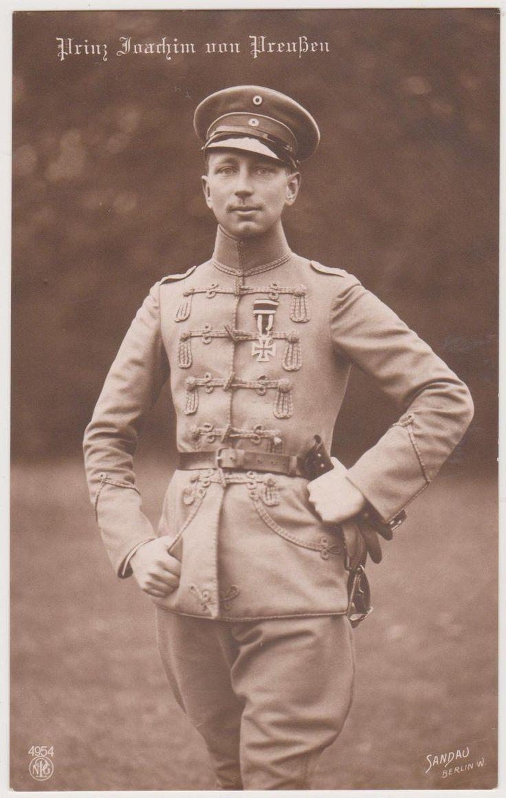 Ak, Prinz Joachim von Preussen, Husaren-Uniform, EK, Feldgrau, Adel