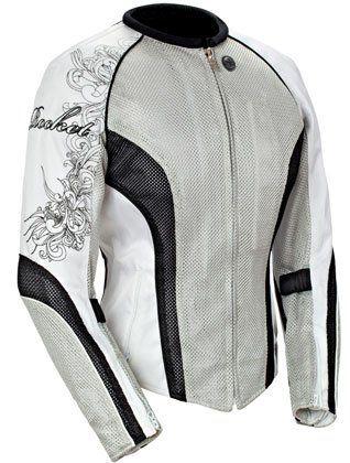JOE ROCKET LADIES MOTORCYCLE JACKET silver/black/white