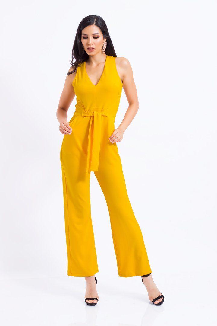 3e846677d Jumpsuit mostaza   Jacky's Fashion   Vestidos   Jumpsuit, Dresses ...