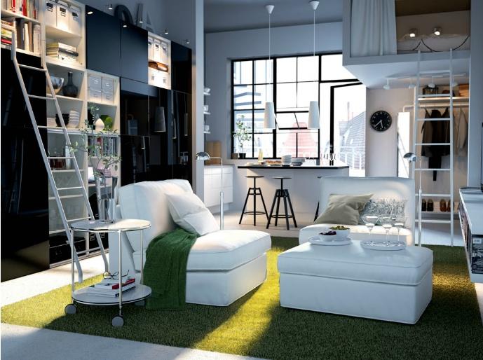 ikea studio apartment design home sweet home pinterest. Black Bedroom Furniture Sets. Home Design Ideas