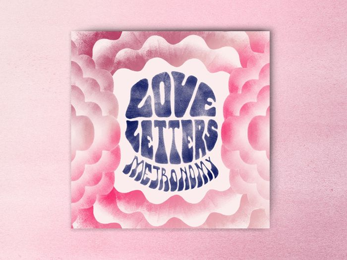 Graphic designer Leslie David's psychedelic artwork for Metronomy's forthcoming albumm, Love Letters.