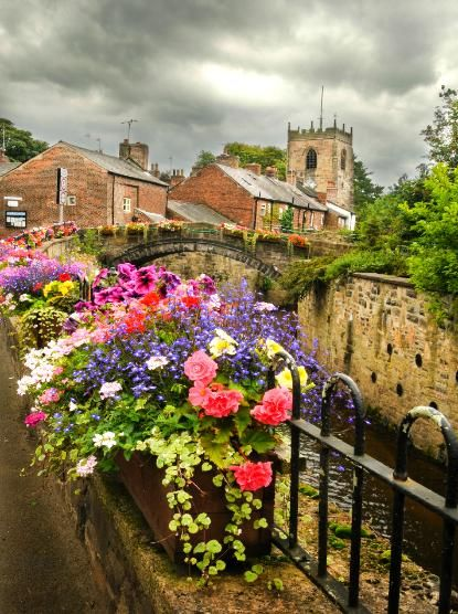 The village of Croston, Lancashire, England with the 18th century St Michael's church