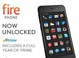 Amazon Fire Phone, 32GB + 1 Year of Amazon Prime Only $159.00 (reg price $449.00)