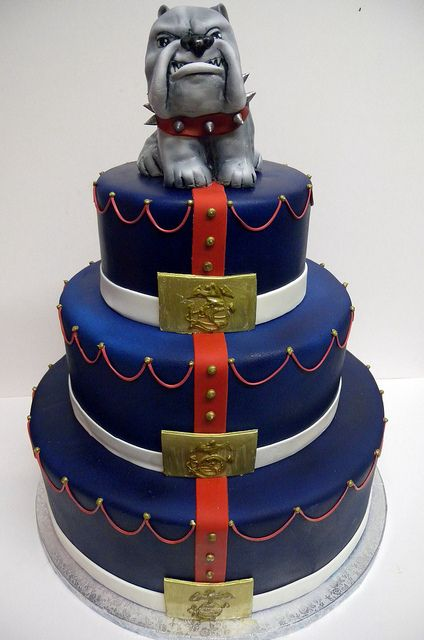 Marines Cake by Alliance Bakery, via Flickr