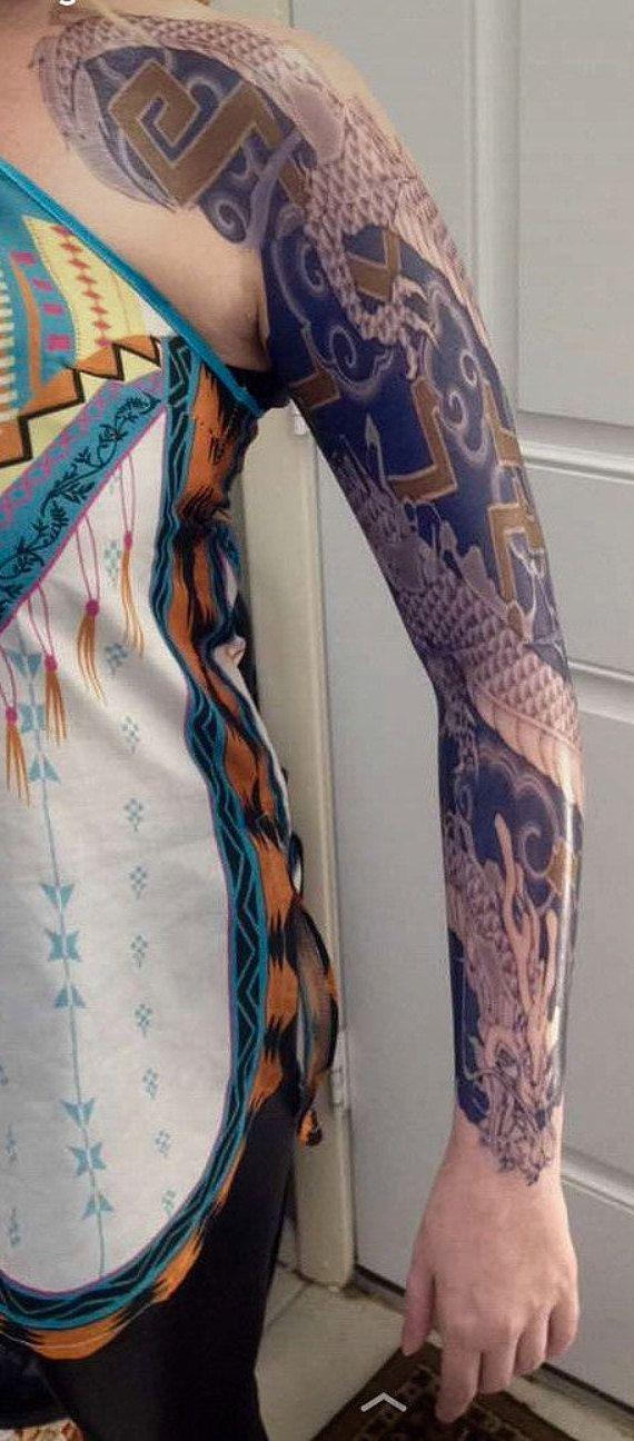 Best 25 temporary tattoo sleeves ideas on pinterest for Hanzo tattoo sleeve