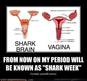 PMS & Shark Week Humor by boo12600