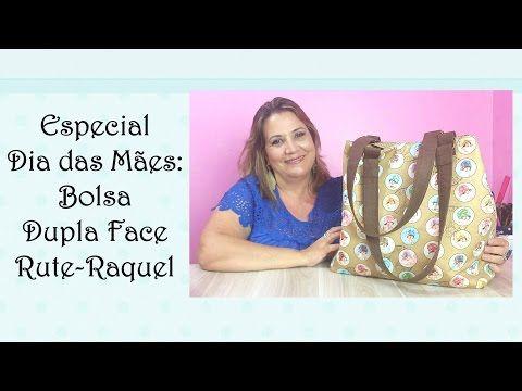 Especial Patchwork Dia das Mães: Bolsa Dupla Face Rute-Raquel - YouTube