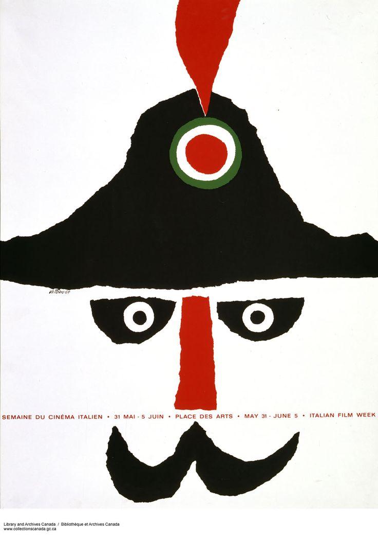 Vittorio Fiorucci , Affiche pour la Semaine du cinéma italien, 1964