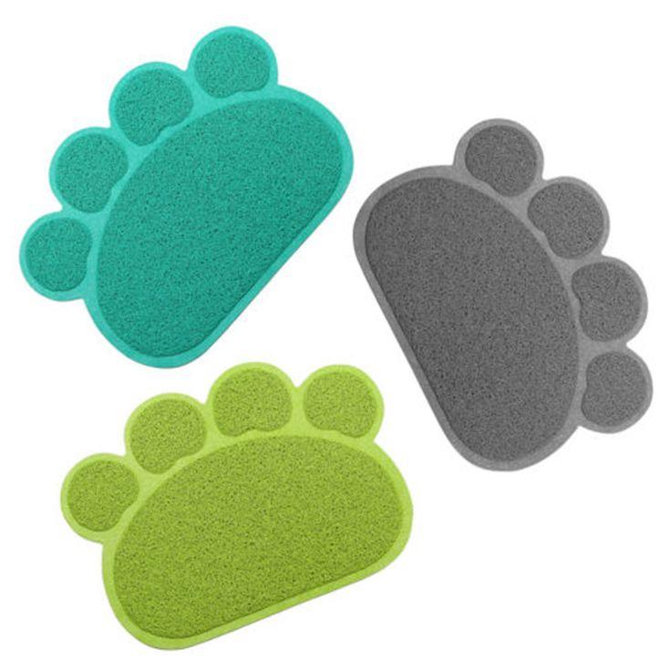 Pet Kleine Fußabdruck Fuß Isomatte Tischset Katzenstreu Matte hund Welpen Reinigung Futternapf Schüssel Tischsets Wischen Einfach reinigung