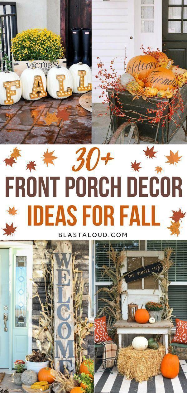 30 Idees De Decoration De Porche D Automne Bricolage Pour Le Plus Beau Porche Cet Automne New Ideas Fall Decorations Porch Porch Decorating Fall Front Porch Decor