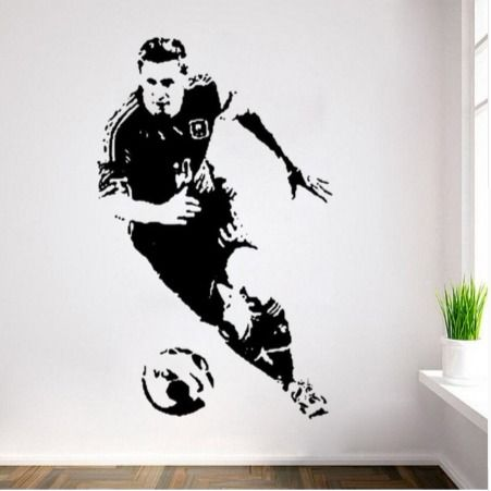 Lionel Messi Football Player Wall Sticker Poster Decal