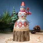 Naturally Merry-Lodge Snowman With Tree Figurine from Christmas - Jim Shore Store