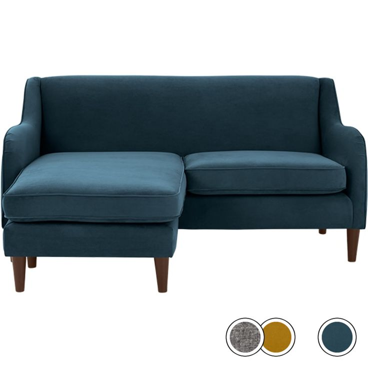 Helena Corner Sofa, Plush Teal Velvet from Made.com. If you're short on space but require a stylish sofa, Helena is a smart investment. You can move..