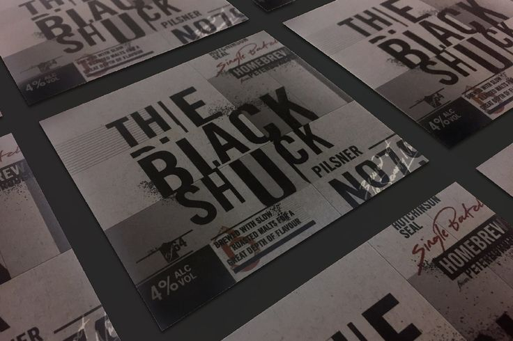 The Black Shuck Craft Beer. Packaging. Label. Brand Mark. Typography. No79 brewers. Designed by White is Black.