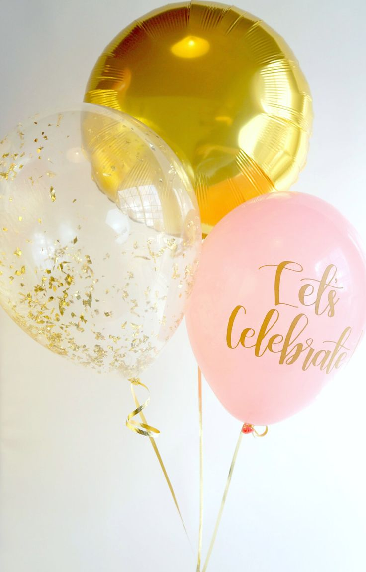 Pink and Gold Balloon Trio | Gold Confetti Balloon | Gold Foil Balloon | Pink Calligraphy Balloon | FREE Shipping* by LolasConfettiShop on Etsy https://www.etsy.com/listing/482481768/pink-and-gold-balloon-trio-gold-confetti