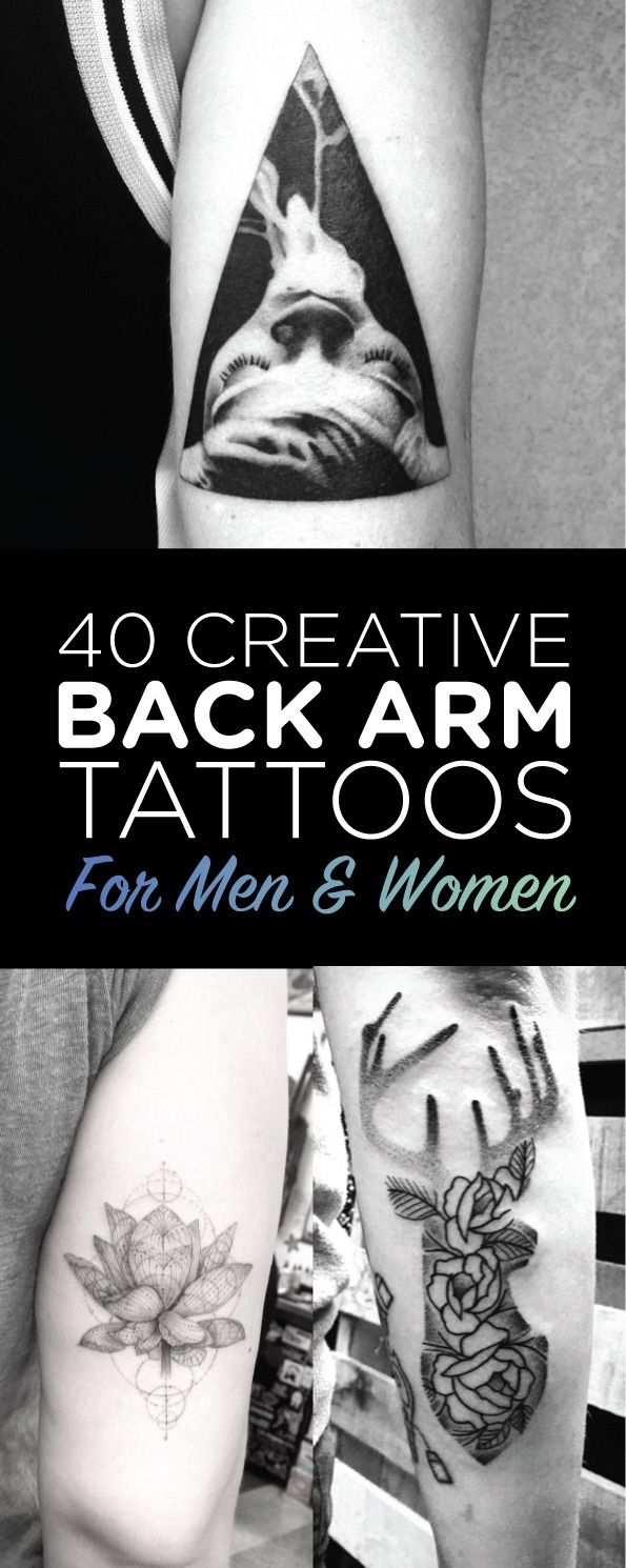 25 best ideas about back arm tattoos on back