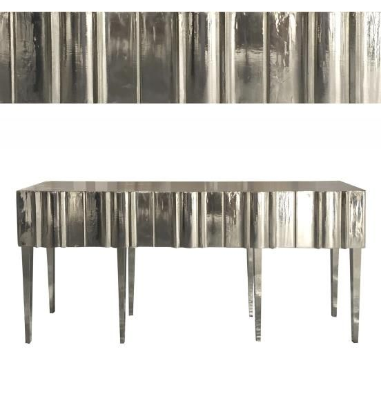 Bernhardt Furniture Company Bernhardt Interiors | Andorra Console Table  366 915B A Reductive Powerful Modern