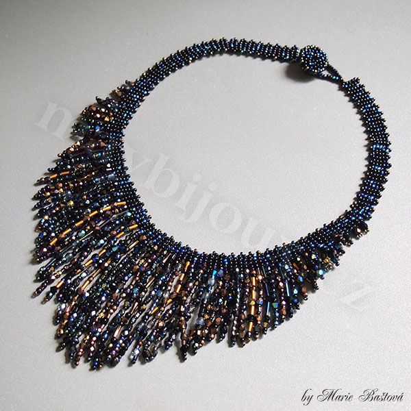 """Night Reflections"" necklace by Majka"