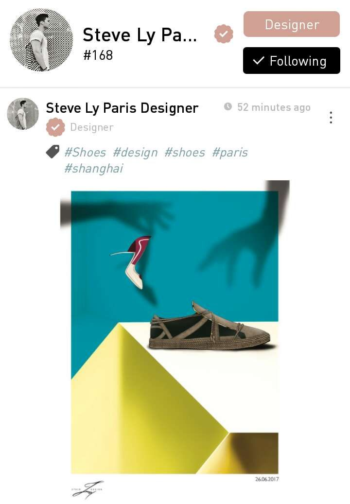 Steve Ly, a designer from Paris, France based in Shanghai, China