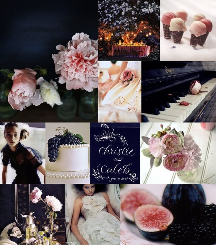 indigo ink and pink peony wedding inspiration for navy and blush peach wedding