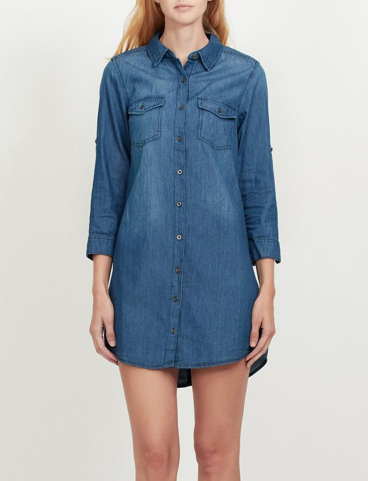 Cool Chambray Shirtdress  Boston Proper  Women39s Dresses Tops