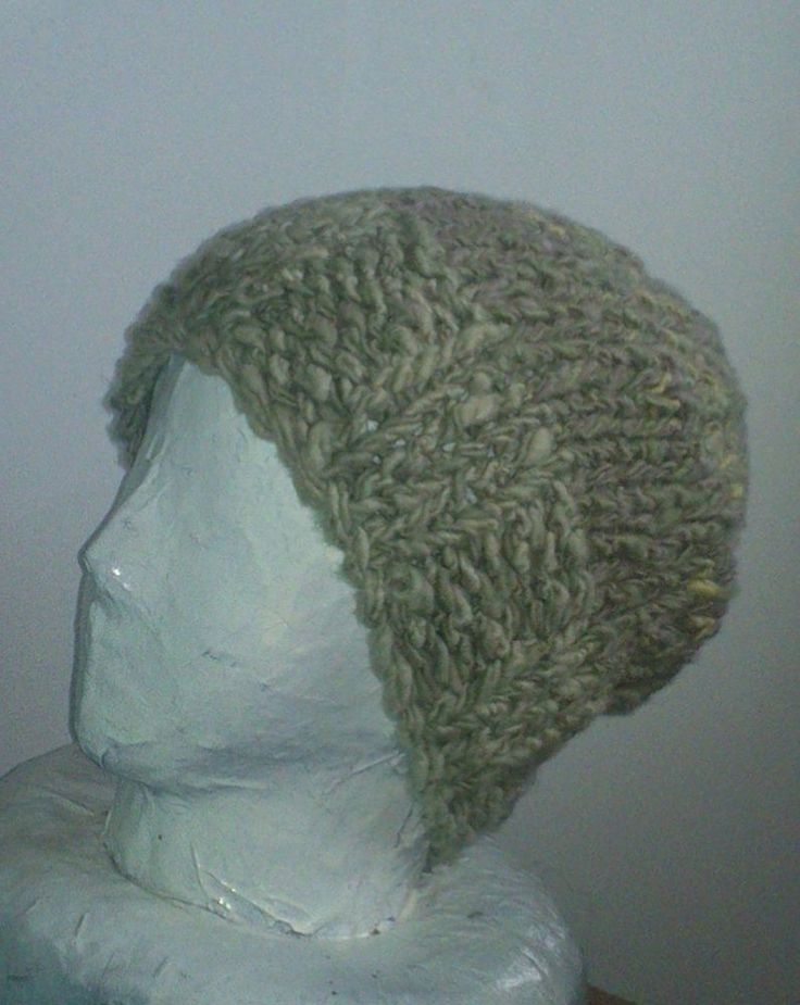 handmade ski hunt hand spun 100% wool beanie hat natural plant dyes hand knit L  #iskapie #Beanie