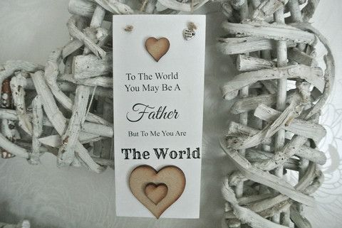 Father World Me Sign - Divine Shabby Chic