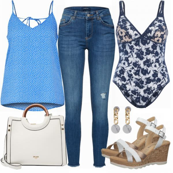 Sommer-Outfits: Pieces bei FrauenOutfits.ch #mode #damenmode #frauenmode #outfit…