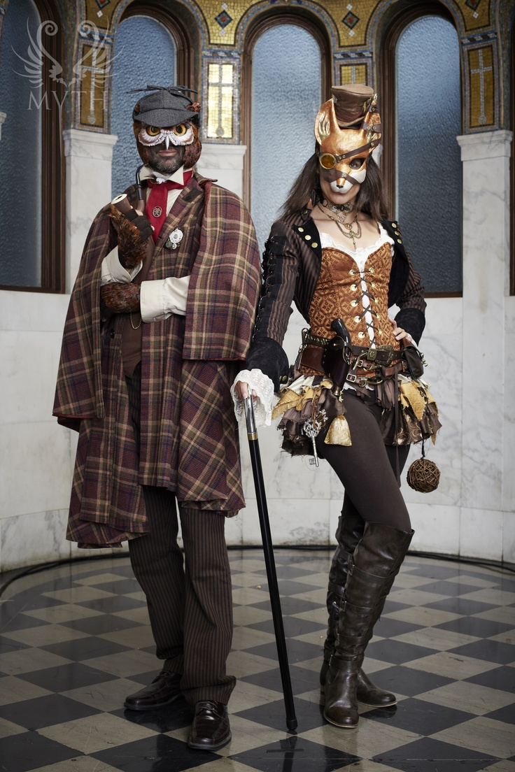 First Annual MYTH Masquerade Ball ~ 'Sherlock Owlmes & Dr. Foxson' // Photo: Daniel Bergeron // www.mythmasque.com