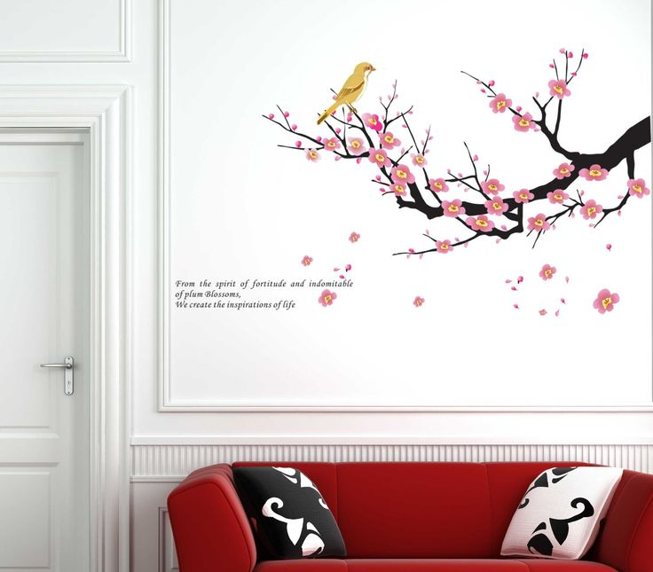 Charming Wall Decals   YYone Branch Of Peach Right Side Create The Inspirations Of  Life Wall Sticker. Cheap Wall DecalsWall Decal StickerRemovable ... Part 21