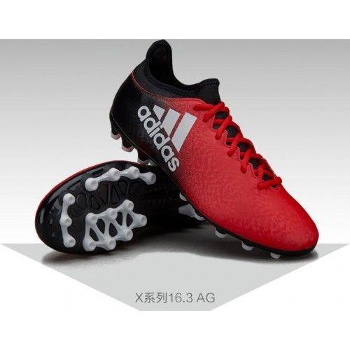Beste 2017 Adidas X 16.3 AG Rod Svart Fotballsko