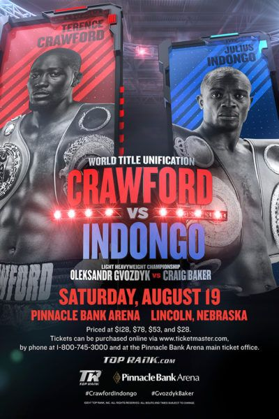 LIVE ON SUPER CHANNEL IN CANADA 9:00 p.m. ET / 6:00 p.m. PT Super Channel to air Terence Crawford vs. Julius Indongo card Live this Saturday night in Canada EDMONTON, Alberta, Canada (Aug. 15, 2017…