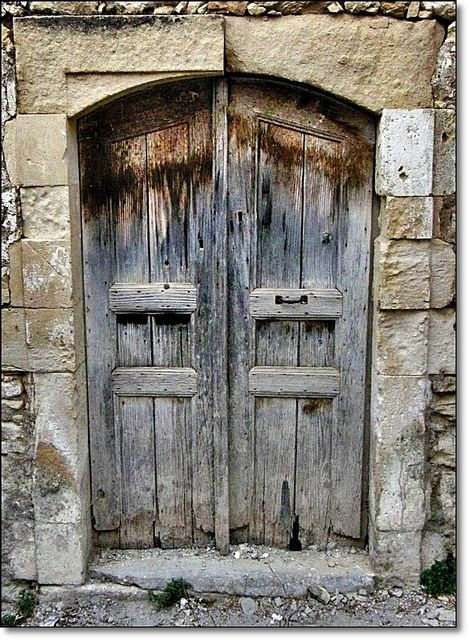 Old doors in Crete by Eleanna Kounoupa (Melissa), via Flickr