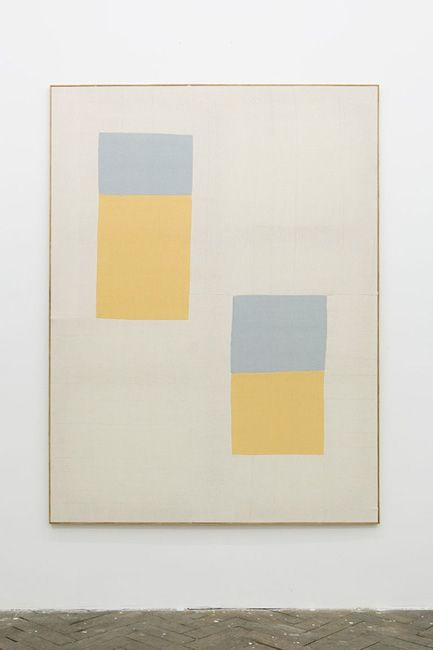 Untitled by Ethan Cook, hand woven cotton canvas in artists frame.
