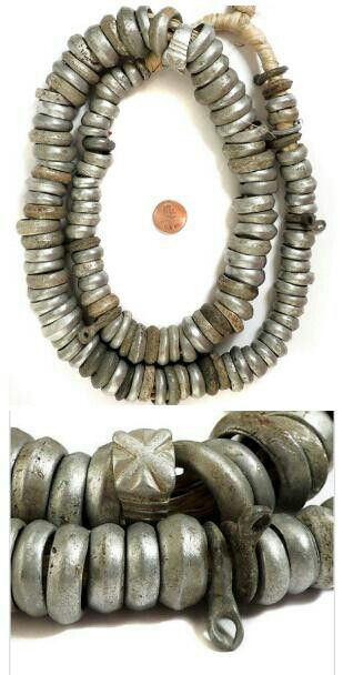 Ethiopian recycled aluminum ring beads. Africa. * Trade Beads *