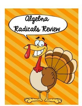 Thanksgiving Algebra Simplifying Radicals Puzzle