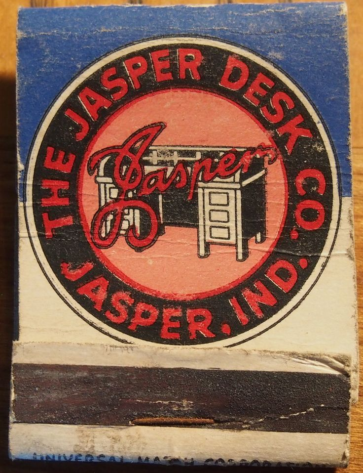 The Jasper Desk Co. - Indiana front-strike #matchbook To order your business' own branded #matchbooks call 800.605.7331 or go to: www.GetMatches.com.