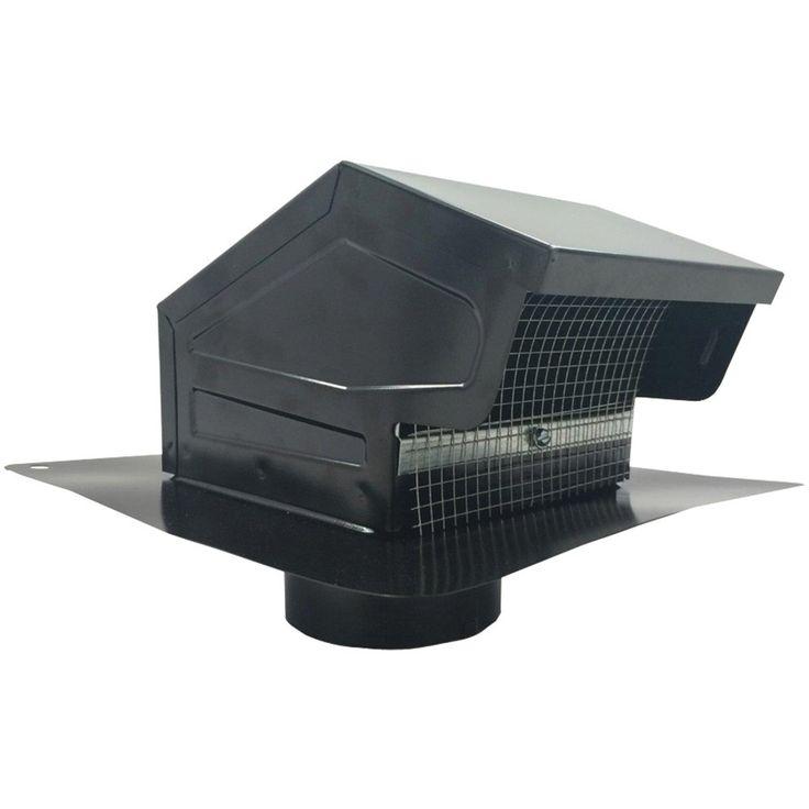 """BUILDERS BEST 012635 Black Metal Roof Vent Cap (4"""""""" Collar)"""