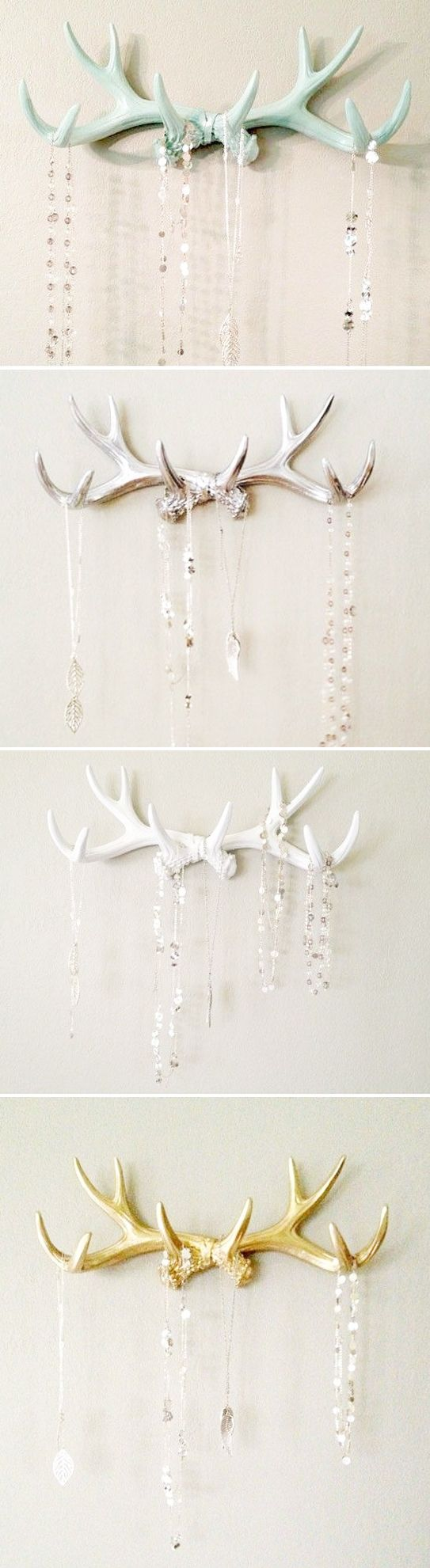 Cute Antler Decor - the colors are so great.