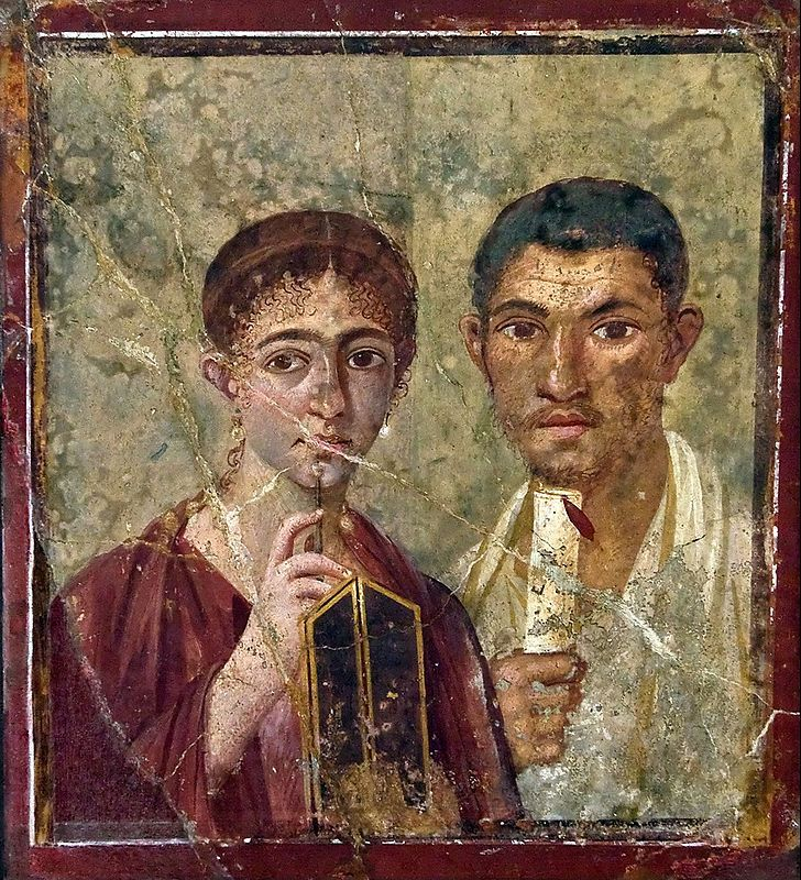 Portrait of the Baker Terentius Neo and his Wife, Rome