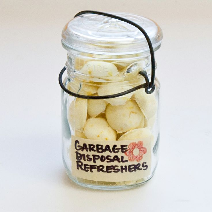 Homemade Garbage Disposal Refreshers... basically lemon and baking soda... how could you go wrong?!?!?  Cute gift idea!