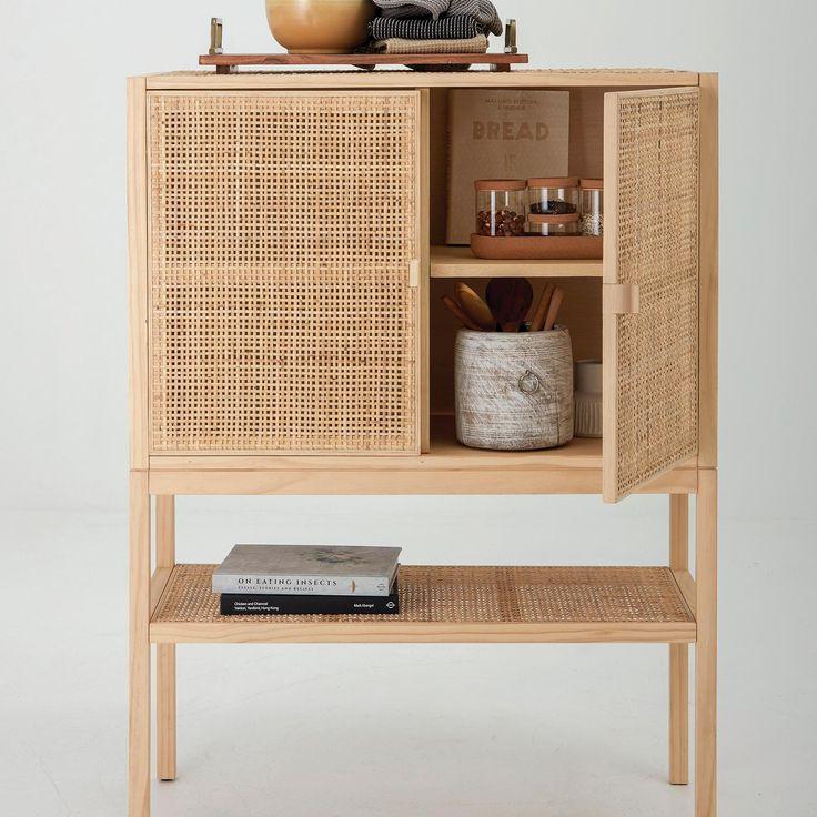 Creative Co Op 2 Door Woven Rattan, Creative Co Op Furniture