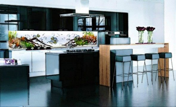 Kitchen Island Fish Tank 17 best images about kitchen on pinterest | purple kitchen