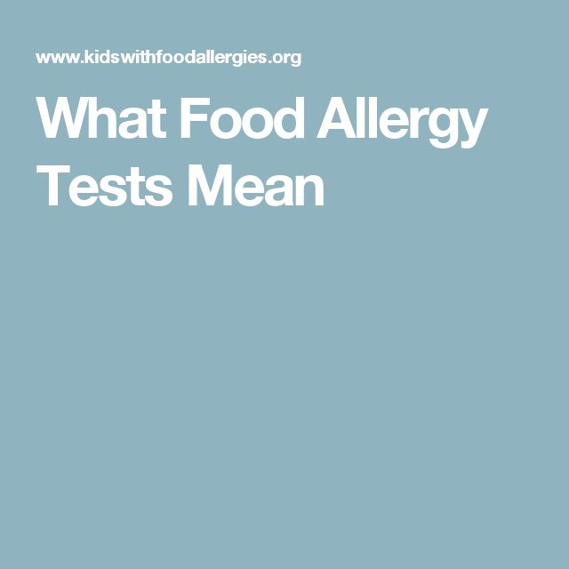 What Food Allergy Tests Mean