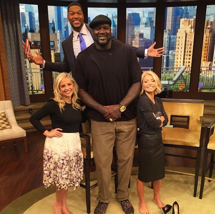 ¿Cuánto mide Shaquille O'Neal? - Real height 2a6769ff36025926f29bff3b56b57664--michael-strahan-sarah-michelle-gellar