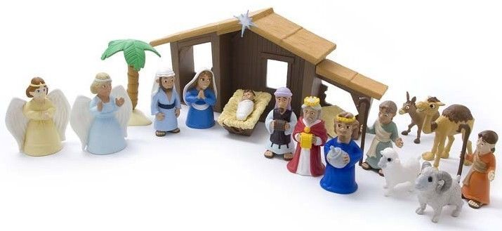 Christmas Nativity Set Kids Holy Family Figures Stable Play Toy Holiday Playset #ChristmasNativitySet
