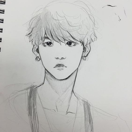 Yoongi!! Honestly tho tho this fanart took my breath away. They captured his eyes perfectly and the look in them, it's like he's surprised at something but he doesn't want to show it. It's the look he has when he's not tired but not entirely happy as well. I loves.