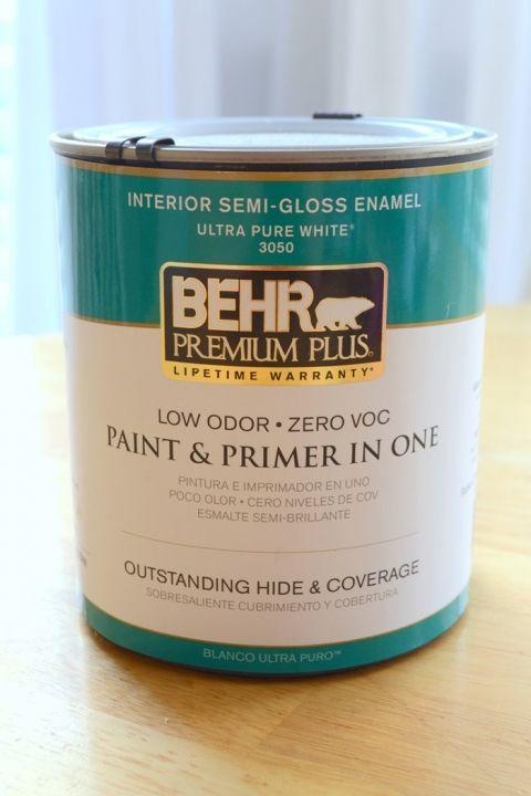 Behr Ultra Pure White In Interior Semi Gloss Enamel Paint
