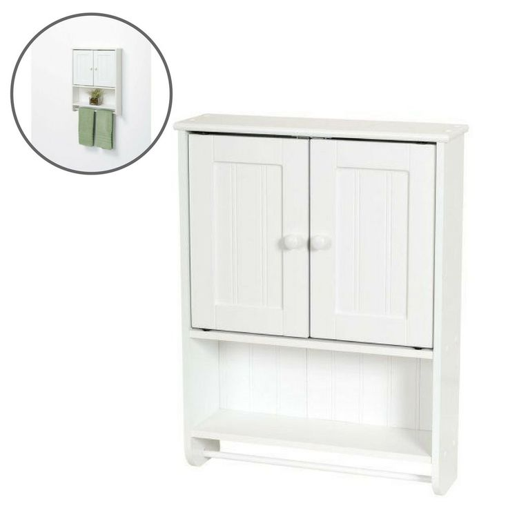 Bathroom Cabinet Over Toilet Storage Shelves Wall Towels Bath White Home Modern  #Unbranded