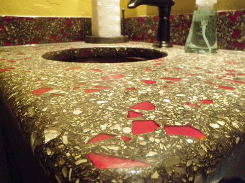 recycled glass aggregates for concrete decor do it yourself concrete. Black Bedroom Furniture Sets. Home Design Ideas